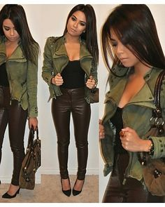 Cute jacket and pants....would probably untuck the shirt though...... http://trymca.ga