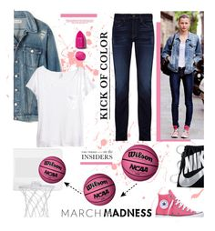 """March Madness: High Tops"" by edenslove ❤ liked on Polyvore featuring Converse, J Brand, Madewell, H&M, NIKE, NARS Cosmetics and contestentry"