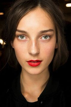 Beauty Inspiration: Fresh Face   A Classic Red Lip
