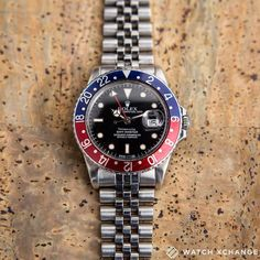 No Filter Needed  // A rare vintage #Rolex GMT Master 16750 retailed by Tiffany & Co from circa 1985 with its original pepsi bezel // Available at http://ift.tt/1qIwSwQ