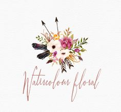 Hand Painted Watercolour Clip Art-Wild Blooms/ by GraphicSafari