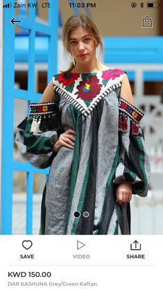 Beautiful detailing with embroidered pocket patch and tassels. Abaya Fashion, Ethnic Fashion, African Fashion, Boho Fashion, Fashion Dresses, Womens Fashion, Batik Dress, Embroidery Fashion, Mode Inspiration