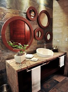 Tropical Bathroom Mirror Design, Pictures, Remodel, Decor and Ideas - page 2