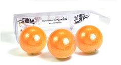 Orange metallic balls make it easier to see your ball in play! With a lower compression for slower swings, these are ideal for any age golfer! These shiny golf balls are fun for both men and women and they conform to USGA regulations. Packaged 3 balls per box.