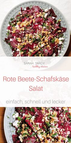 Beetroot - feta cheese - salad - sarah tardy - My dear friend Andrea brought me this simple recipe about 15 years ago, and it has been a long-runn - Easy Salads, Easy Meals, Cottage Cheese Salad, Pickled Beets, Cooking Recipes, Healthy Recipes, Vegetarian Recipes, Beetroot, Natural