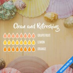 Clean and Refreshing - Essential Oil Diffuser Blend