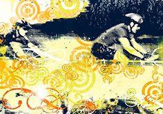 Print Art Poster: ($58) Mountainbike 1  17X24In.