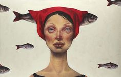 Juxtapoz Magazine - Paintings by Iranian Artist Afarin Sajedi
