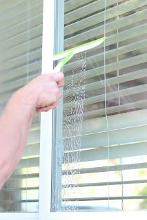 removed hard water stains from windows