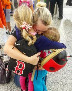 Hugs from #MamaBear before our flight to Turkey & USA (she's joining us later) #Love #MissYou