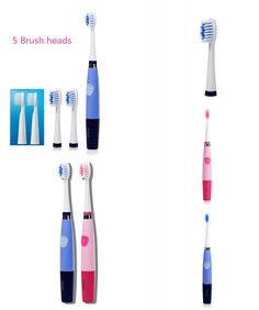 [Visit to Buy] 5 brush heads Oral Hygiene Ultrasonic Sonic Electric toothbrush for adults 23000 micro-brushes per minute Seago SG-915 ABS/TBE #Advertisement