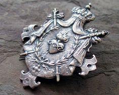 Argent Sterling .925 ancien Notre Dame de Lourdes médaille Charme Pendentif fabricants Standard prix de détail $54