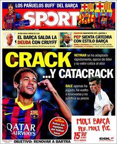 Los Titulares y Portadas de Noticias Destacadas Españolas del 3 de Octubre de 2013 del Diario Sport ¿Que le pareció esta Portada de este Diario Español?