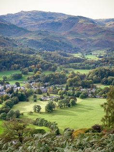 Grasmere village, Lake District, England. The Lake District defines many tourists view of Great Britain.
