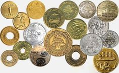 Collection of old Lebanese Coins Cultural Artifact, Phoenician, Crochet Butterfly, Beirut Lebanon, Old Money, Old Coins, Cool Countries, National Flag, Print Packaging