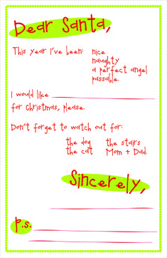 Free Printable: Letter to Santa! Secret Santa Templates, Free Santa Letter Template, Christmas Letter Template, Free Letters From Santa, Santa Letter Printable, Letters For Kids, Templates Printable Free, Block Lettering, Official Letter