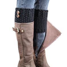 BeautyIn Womens Short Crochet Leg Warmers Knitted Buttons Socks Boot Cuffs ** Check this awesome item by going to the link at the image. Crochet Boot Cuffs, Crochet Leg Warmers, Crochet Boots, Thing 1, Patterned Socks, Fashion Socks, Boot Socks, Fashion Outlet, Legs