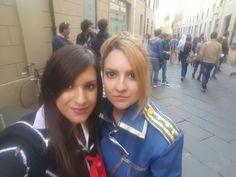 Fullmetal Alchemist and Vampire Knight - Riza Hawkeye and Yuki Cross (Seflie at Lucca Comics and Games) <3