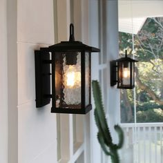 Shop for Mid-Century Water Glass Outdoor Wall Sconce Lighting in Black Aluminum Alloy - Get free delivery On EVERYTHING* Overstock - Your Online Outdoor Lighting Store! Garage Lighting, Barn Lighting, Outdoor Wall Lighting, Wall Sconce Lighting, Wall Sconces, Black Outdoor Wall Lights, Outdoor Garage Lights, Porch Wall Lights, Lighting Ideas