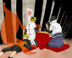 Minato Namikaze and Naruto