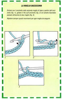 maglia bassissima Crochet Ripple, Tapestry Crochet, Bead Crochet, Irish Crochet, Diy Crochet, Crochet Stitches, Crochet Patterns, Spool Knitting, Felt Diy