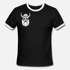 viking - Men& Ringer T-Shirt Viking Men, Tshirts Online, Vikings, Mens Tops, T Shirt, Shopping, Fashion, Moda, Tee