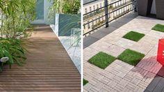 Pose facile pour les nouvelles dalles de terrasse