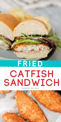 If you want a sandwich you can sink your teeth into then you have to try this fish sandwich! Fried catfish tastes amazing served up piled high in a hoagie and smothered in a simple aioli. This sandwich recipe is going to change the way you think about fish sandwiches!