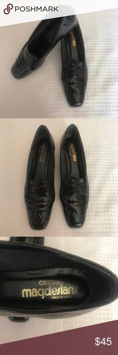 California Magdesians Snakeskin Low Heels In like new condition. Gorgeous construction. Well made. Magdesians Shoes Heels