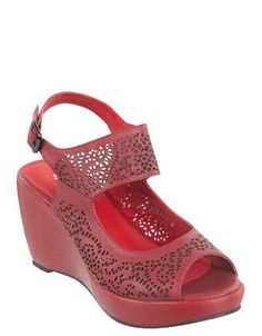Perferation Red Shoes, Wedges, Comfy, Detail, Elegant, Fashion, Red Dress Shoes, Classy, Moda