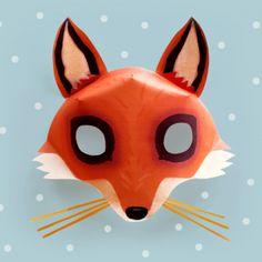 Free Fox mask template!