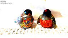 Jack & Jackie Sparrow,Ceramics and pottery, Ceramic Statuetes, Handpainted figurines, Ceramic birds, Home decoration, Unique finds