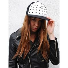 Spikes Cap ($28) ❤ liked on Polyvore