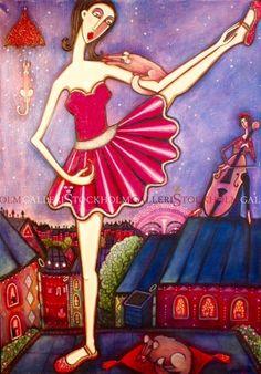 Angelica Wiik - Oljemålning - Primaballerina