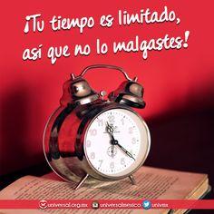 El #tiempo es oro. No lo malgastes en cosas que no te edifican. Invierte ese tiempo en tu comunión con #Dios y notaras la diferencia.  Síguenos por nuestras redes sociales:   http://www.universal.org.mx  https://www.facebook.com/IglesiaUniversalMexico/ http://www.twitter.com/UnivMx http://www.instagram.com/UniversalMexico