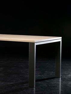 Metal Leg Dining Table, Metal Table Frame, Wood And Metal Desk, Diy Dining Room Table, Dining Room Design, Wood Table, Concrete Table, Concrete Furniture, Diy Outdoor Furniture