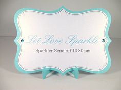 Custom Sparkler Send Off Sign by CreativeCandyDesign on Etsy, $7.00