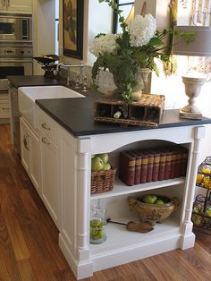 bookcase in kitchen island......nice