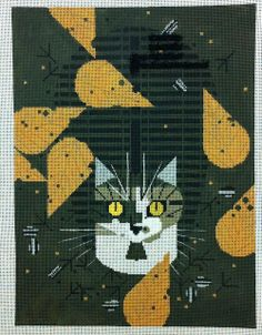Charley Harper's Cat - It's not your Grandmother's Needlepoint: Nov 5, 2012