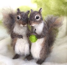 Needle Felted Squirrel Grey, Poseable by ClaudiaMarieFelt on Etsy https://www.etsy.com/listing/98886070/needle-felted-squirrel-grey-poseable