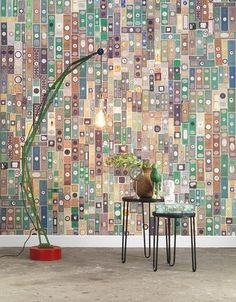 Microscopic Slides Wallpaper by Mr & Mrs Vintage for NLXL