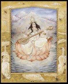 Sarasvati, goddess of the arts by Kris Waldherr