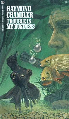 Trouble is My Business by Raymond Chandler, Cover by Tom Adams
