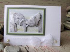 Elephant Card 8 x 6 Happy Birthday White by 4SeasonCards on Etsy, €7.00