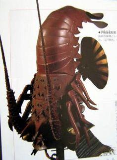 Un kabuto japones, un casco de samurai ceremonial, en la forma de una langosta.