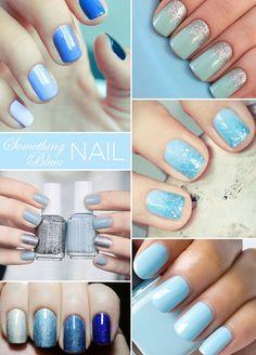"8 ""Something Blue"" Wedding Ideas Just For You: Blue Manicure or Pedicure Blue Pedicure, Shellac Pedicure, Fall Pedicure, Wedding Pedicure, French Pedicure, Pedicure Colors, Pedicure Designs, Manicure And Pedicure, Nail Designs"