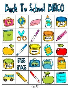 graphic relating to Back to School Bingo Printable titled 159 Most straightforward B-I-N-G-O visuals within just 2019 Routines, Conclusion of 12 months