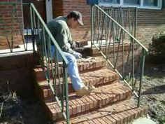 Best Masonry Steps With Limestone Brick Veneers And Stamped 400 x 300