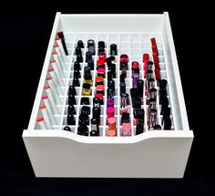 Designed to fit the Alex 9 drawer set. Free Shipping on orders of $225.00 or more! Coupon Code: SHIP4FREE About this Product This lipstick organizer is handcrafted with high quality wood to fit perfectly into the IKEA Alex 9 Drawer set. With 1 by 1 sections this organizer will hold up to 117 different lip products. This organizer can be easily installed into 1 of the bottom 4 drawers to accommodate tall and short lip products. Organizers do not have bottoms. Product Details -Full Product…