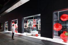 Дизайн витрины магазина Bridgestone Communication Space в Токио, Япония